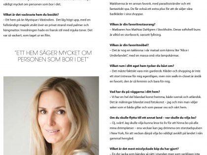 Co-founder Josephine Sundin in HOOM magazine