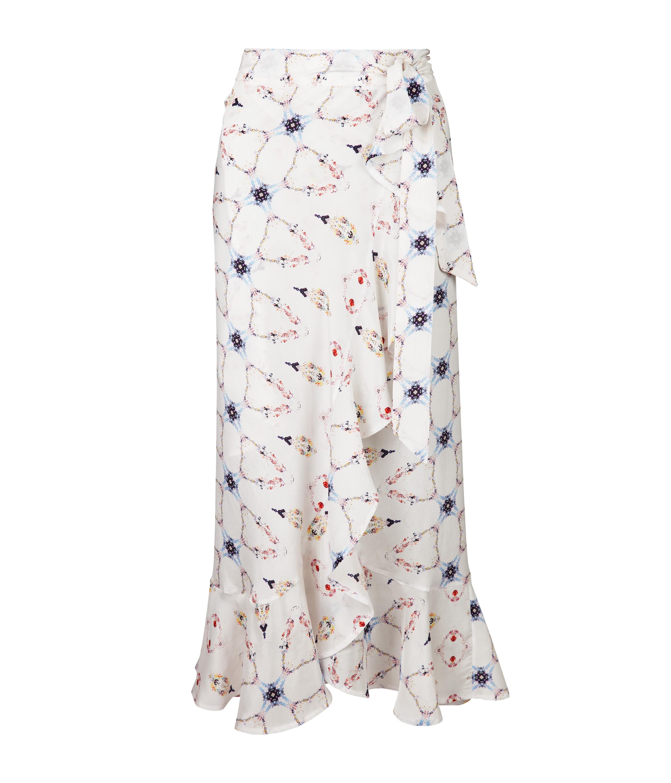 "3d6ffcd450f93 ""The Clara"" silk wrap skirt. """