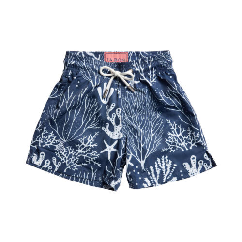 Navy Coral Swimshorts - Front
