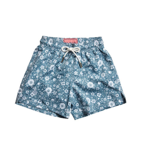 Teal Floral Swimshorts