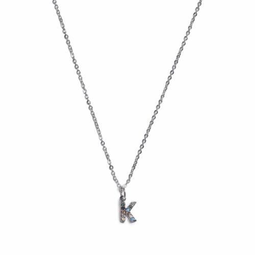 Initial Necklace - Silver - K