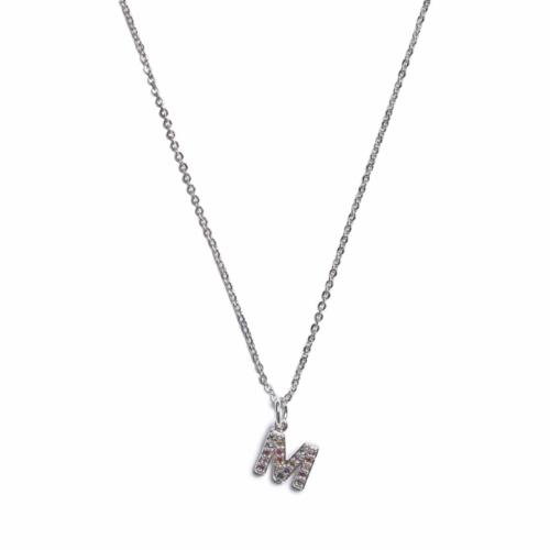 Initial Necklace - Silver  -M