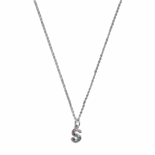 Initial Necklace - Silver - S