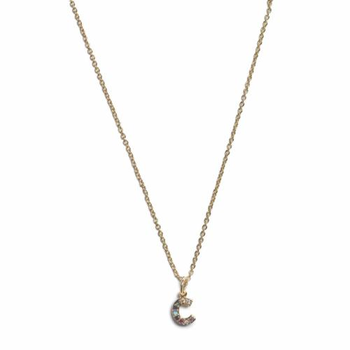 Initial Necklace -Gold - C
