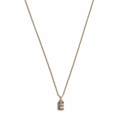 Initial Necklace - Gold - E