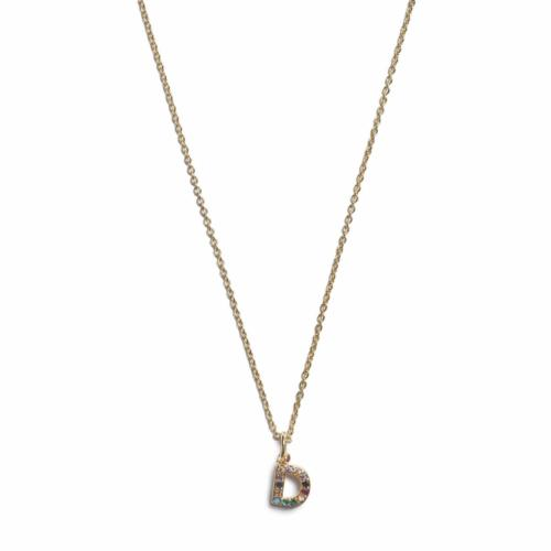 Initial Necklace - Gold - D