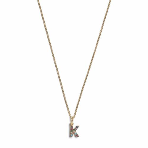 Initial Necklace- Gold - K