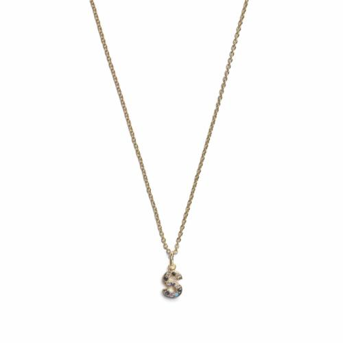 Initial Necklace - Gold - S
