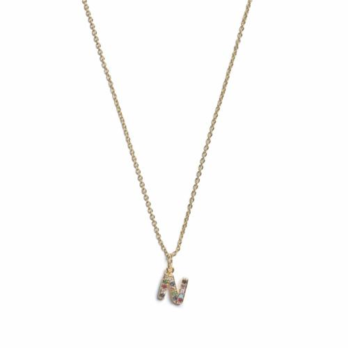 Initial Necklace- Gold - N