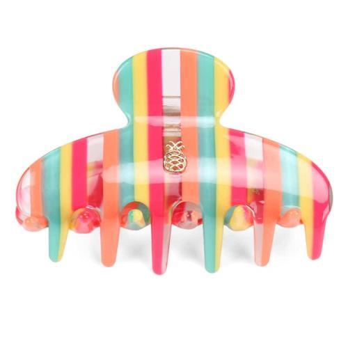 Hair Claw -  Rainbow Stripe