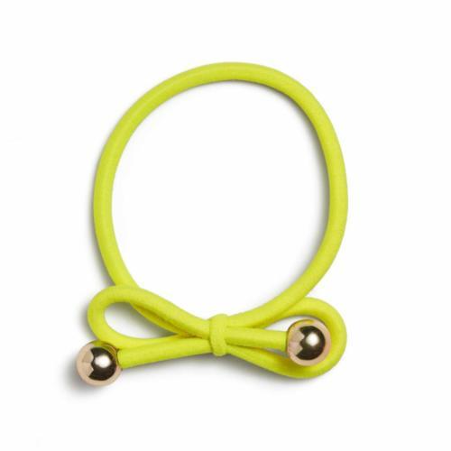 Neon Yellow - Gold Bead