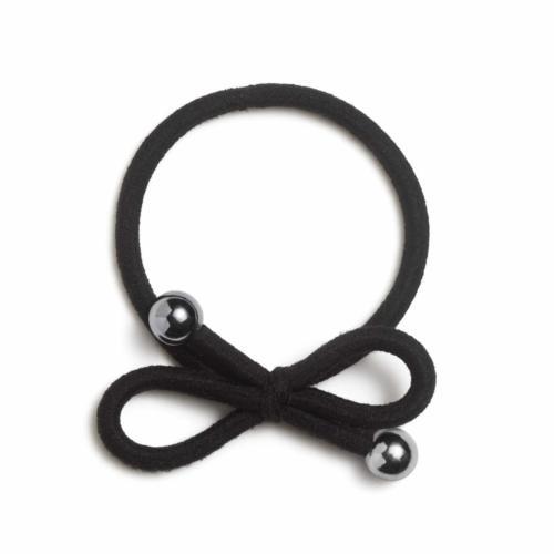Black silver bead