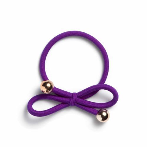 dark purple - Gold Bead